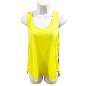 Peach Kinsei Tank Top Electric Lime Color Style P1286KL NWT Size Large